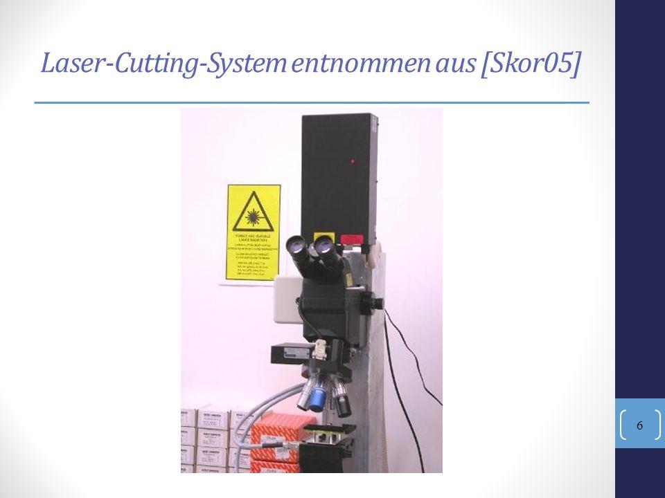 Laser-Cutting-System entnommen aus [Skor05]